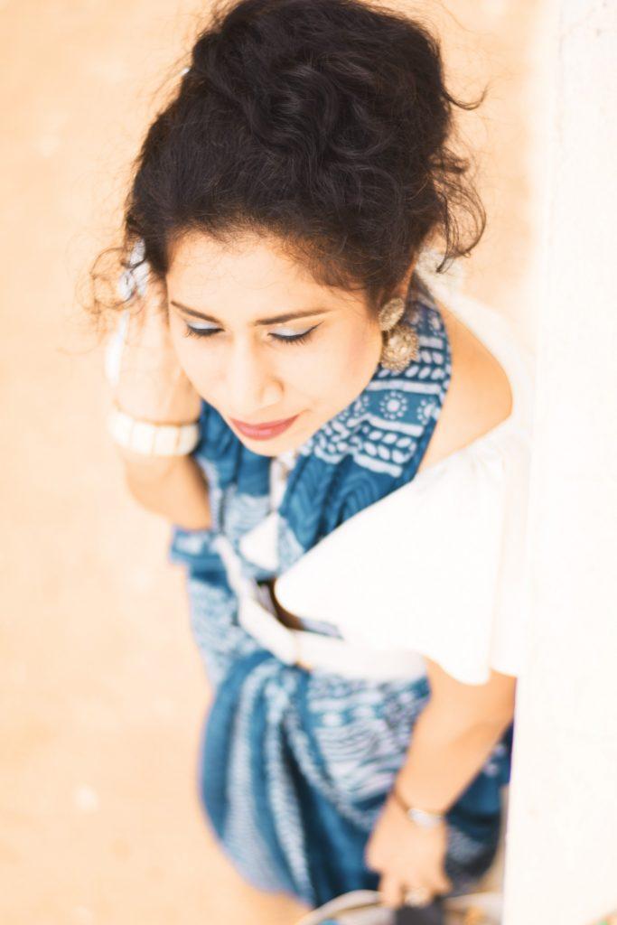 Crop top as saree blouse